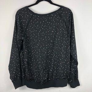 LC Lauren Conrad Sheer Sweatshirt
